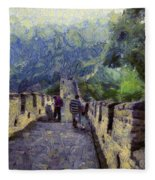 Long Slope Of The Great Wall Of China Fleece Blanket