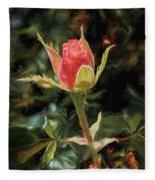 Long Stemmed Rose Fleece Blanket