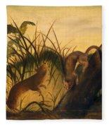 Long - Tailed Weasel Fleece Blanket