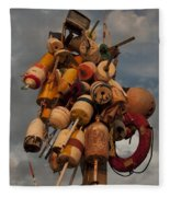 Long Wharf Buoys Fleece Blanket