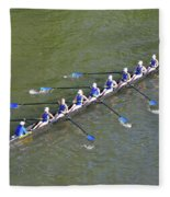 Longboat - Rowing On The Schuylkill River Fleece Blanket