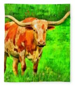 Longhorn 2 - Pa Fleece Blanket