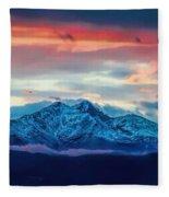 Longs Peak At Sunset Fleece Blanket