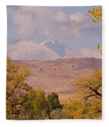 Longs Peak Diamond Autumn Shadow Fleece Blanket