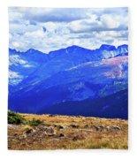 Longs Peak Rocky Mountain National Park Fleece Blanket