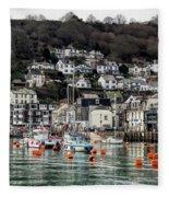 Looe Harbour - Cornwall Fleece Blanket