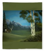 Looking Back Fleece Blanket