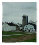 Looking Down An Amish Lane Fleece Blanket