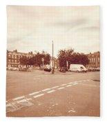 Looking Down Brunswick Square C York Street Bristol England Fleece Blanket