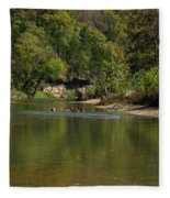 Looking Down Bryant Creek Fleece Blanket