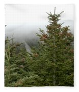Looking Down From Mnt. Mitchell Fleece Blanket