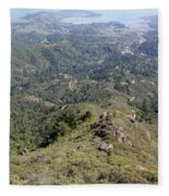 Looking Down From The Top Of Mount Tamalpais Fleece Blanket