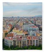 Looking Down On Barcelona From The Sagrada Familia Fleece Blanket