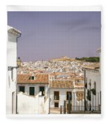 Looking Down Over Antequera  From Near The Church Of Santa Maria La Mayor  Fleece Blanket