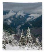Looking Down The Canyon Fleece Blanket