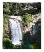 Looking Glass Falls Nc Fleece Blanket