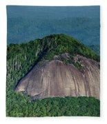 Looking Glass Rock Mountain In North Carolina Fleece Blanket
