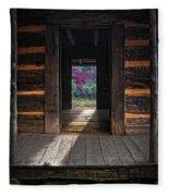 Looking Through John Oliver's Cabin Fleece Blanket