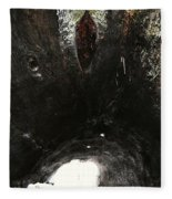 Looking Through The Hollow Trunk Of An Ancient Fallen Sequoia In Kings Canyon California Fleece Blanket