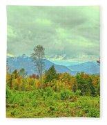 Looking To The Mountains Fleece Blanket