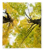 Looking Up At Fall Fleece Blanket