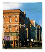 Looking Up Main Street Fleece Blanket