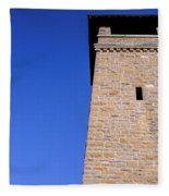 Lookout Tower On A Civil War Battlefield In Antietam Creek Maryl Fleece Blanket