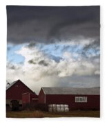 Looming Storm In Sumas Washington Fleece Blanket