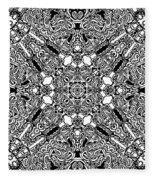 Loops Black And White No. 1 Fleece Blanket