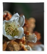Loquat Flower Fleece Blanket
