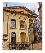 Lord Clarendon's Statue, Clarendon Building, Oxford Fleece Blanket