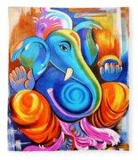 Lord Ganesh  Fleece Blanket