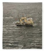 Lord Nelson Enters Sydney Harbour Fleece Blanket