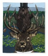 Lord Of The Manor With Hidden Pictures Fleece Blanket