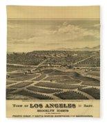 Los Angeles 1877 Fleece Blanket