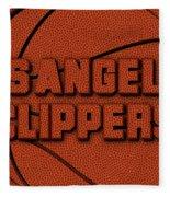Los Angeles Clippers Leather Art Fleece Blanket