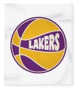 Los Angeles Lakers Retro Shirt Fleece Blanket