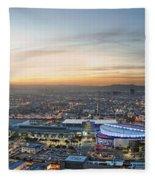 Los Angeles West View Fleece Blanket