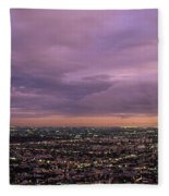 Los Angels Sunset Fleece Blanket