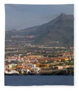Los Gigantes Panorama 1 Fleece Blanket