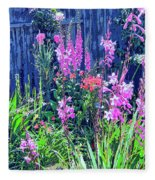 Los Osos Flower Garden Fleece Blanket