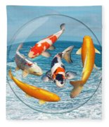 Lost In A Daydream - Fish Out Of Water Fleece Blanket