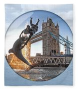 Lost In A Daydream - Floating On The Thames Fleece Blanket