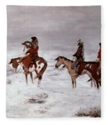 'lost In A Snow Storm - We Are Friends' Fleece Blanket