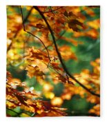 Lost In Leaves Fleece Blanket