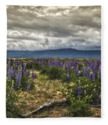 Lost In The Lupine Fleece Blanket