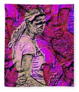 Lost In Thoughts Of Self Reflection Fleece Blanket