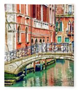 Lost In Venice Fleece Blanket