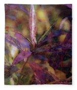 Lost Leaves Decorated In Purple 6003 Ldp_2 Fleece Blanket