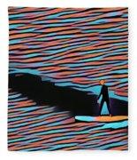 Lost Surfer Fleece Blanket